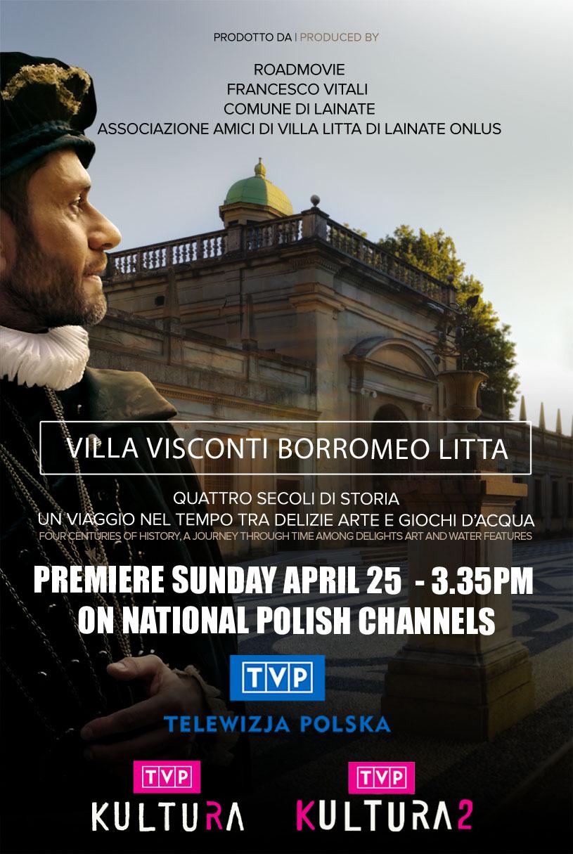 TVP CHANNEL – Villa Visconti Borromeo Litta sul canale televisivo nazionale polacco TVP KULTURA – 2021